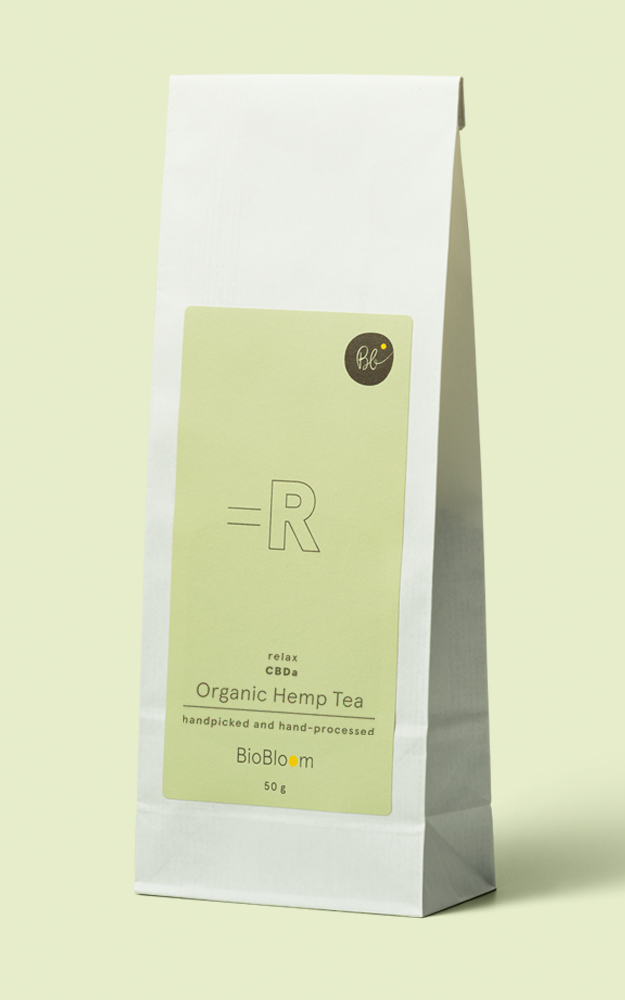 Organic Hemp Tea relax paper bag