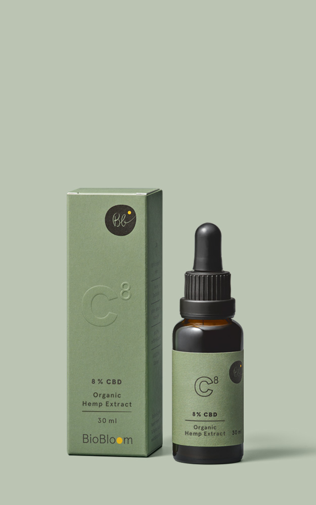 8 % Organic CBD Oil - 30 ml - Organic hemp full extract